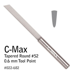 C-Max Tapered Round #53, 0.8 mm Tool Point