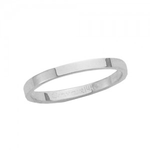 Platinum Flat Band 2 mm