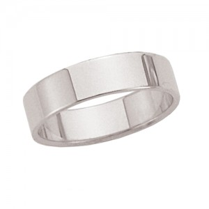 Platinum Flat Band 5 mm