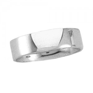 Platinum Flat Band 6 mm