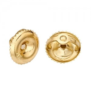 "Screw Backs, 0.031"" Hole, 6.30 mm OD, 18k Yellow"