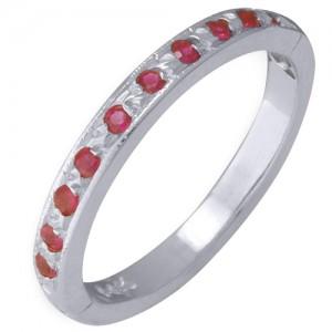 14k White Gold Ruby Toe Ring