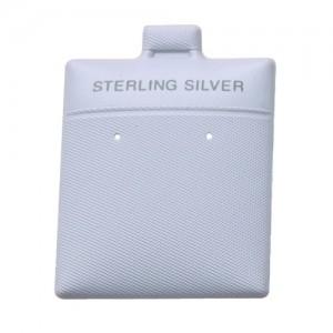 200 Earring Cards Pads Black Sterling Silver Displays