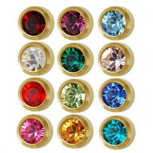 Mini 12-Month Birthstones Ear Piercing Studs