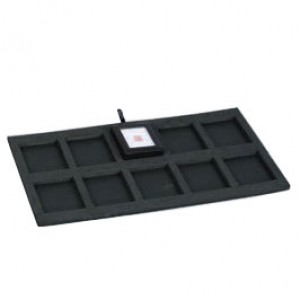"10-Gem Box Inserts for Full-Size Utility Trays in Jet, 14.13"" L x 7.63"" W"