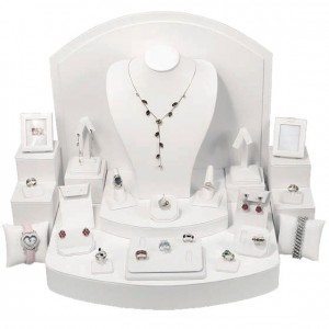 28 - Piece Set White Faux Leather
