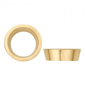 18K Yellow Gold Round Tapered Bezel