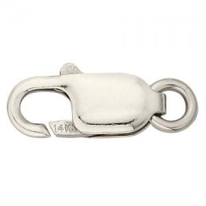 18K White Gold Lobster Lock
