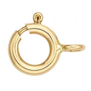 14k Rose Gold Spring Ring, 5.0 mm