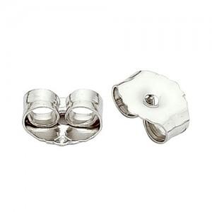 """Platinum Earring Friction Back 0.026-0.36"""" Hole"""