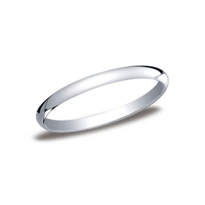 Platinum Half Round Band 2 mm