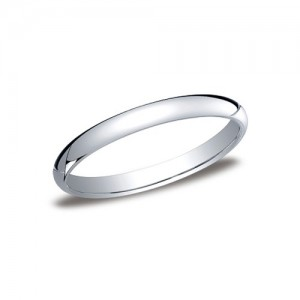 Platinum Half Round Band 2.5 mm