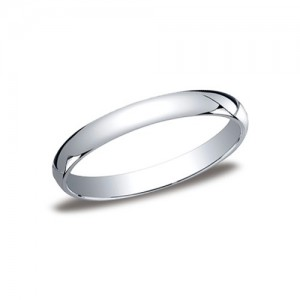 Platinum Half Round Band 3 mm