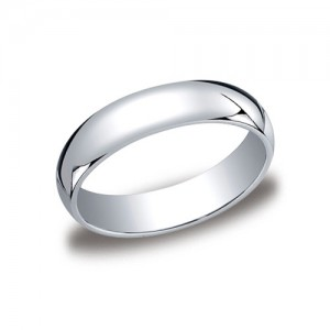 Platinum Half Round Band 5 mm