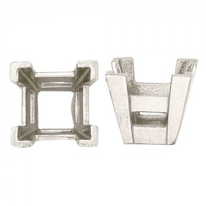 Platinum V-Prong Square Setting