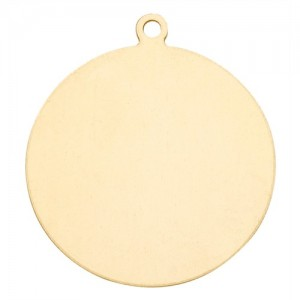 14K Yellow Gold Round Disk