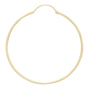 14k Yellow Hinged Hoop Earring 1.0mm Thickness