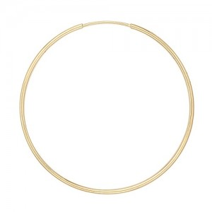14k Yellow Endless Hoop Earring