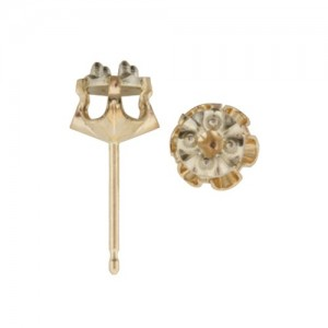 14k 2-Tone Buttercup Illusion Earring