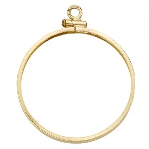 14k Yellow Coin Bezel w/ Coin Edges