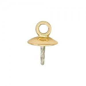 14k 5.5mm Pad Pearl Pendant