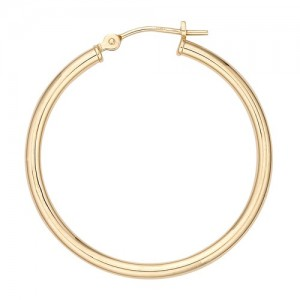 14k Yellow Hinged Hoop Earring 2.0mm Thickness