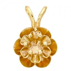 14k Yellow Reflector Pendant