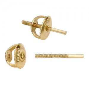 "0.031"" Medium Screw Post & Back"