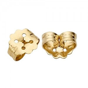 "14k 0.031"" Hole Push-On Screw-Out Earring Back"