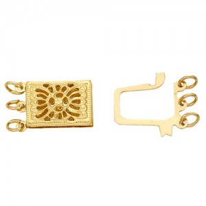 14k Gold 3-Strand Clasp