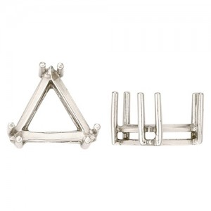 14k Yellow 6 Prong Triangle Setting