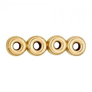 14k Yellow Roundel 4 Strand Spacer