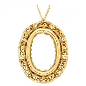 Oval Bezel For Camios-Filigree
