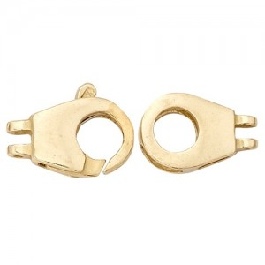 14K Yellow Cast Clasp, 24.6x9.15mm