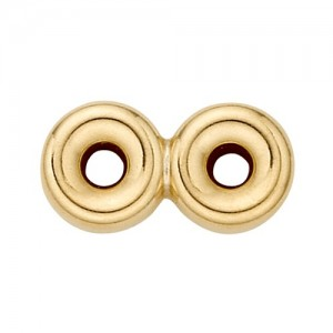 14k Yellow 2 Strand Roundel Spacer- 5.0 mm
