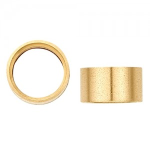 14K Yellow Gold Round Straight Bezel