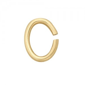 14k Yellow Open Oval Jump Ring