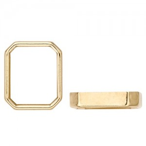 14k Yellow Gold Octagon Bezel  Non-Faceted