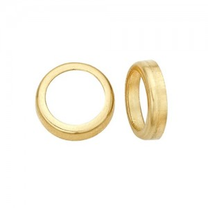 14k Yellow Gold Round Bezel  Non-Faceted
