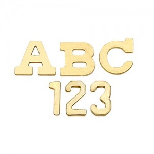 14k Yellow 3.20 mm Block Initial