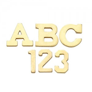 14k Yellow 5.32 mm Block Initial