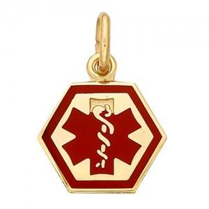 "14k Yellow Medic Aid Medallion, 9.3 mm x 0.030"""