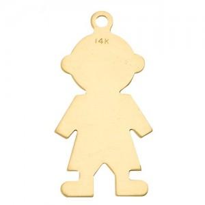 14K Yellow Boy Silhouette Charm