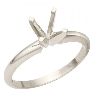1.50ct 4-Prong Round Solitaire Mounting Size 7.0