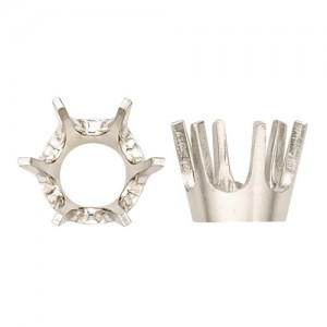 14k White 6-Prong Low Base Setting