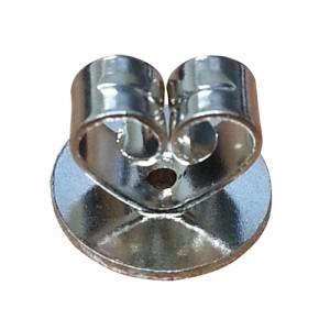 Aa Jewelry Supply 14k White Heart Shaped Friction Earring Back