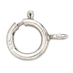 14k White Gold Spring Ring