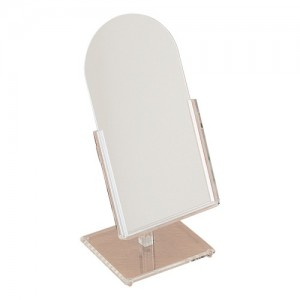 "Small Acrylic Countertop Mirrors, 6"" L x 12"" H"