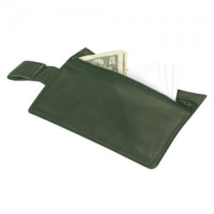 "Hide-Away Parcel Wallets w/Belt Loops, 7.25"" L x 4"" W"