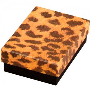 Cotton-Filled Gift Box in Glossy Leopard Print